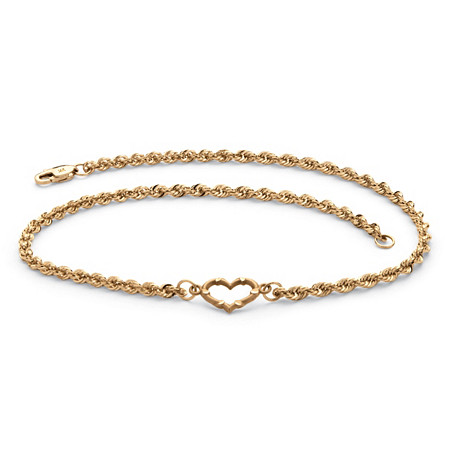 women western style diamond full anklet chain popular trade heart foreign anklets peach