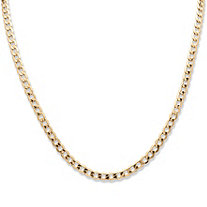 "Curb-Link Chain Necklace in 10k Yellow Gold 20"" (5.25mm)"