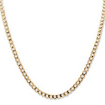 SETA JEWELRY Curb-Link Chain Necklace in 10k Yellow Gold 22