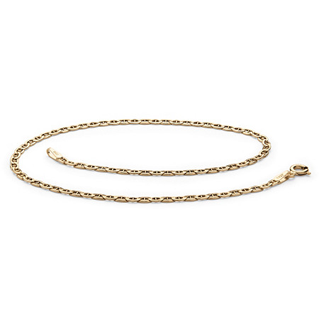 Mariner-Link Ankle Bracelet in 14k Yellow Gold (2.5mm) at PalmBeach Jewelry