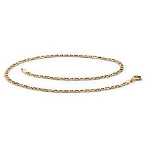 SETA JEWELRY Mariner-Link Ankle Bracelet in 14k Yellow Gold (2.5mm)