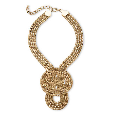 Snake-Link Draping Multi-Strand Rope Necklace in Gold Tone at PalmBeach Jewelry