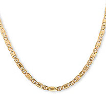 Men's Mariner-Link Chain Necklace in 14k Yellow Gold over Sterling Silver 20