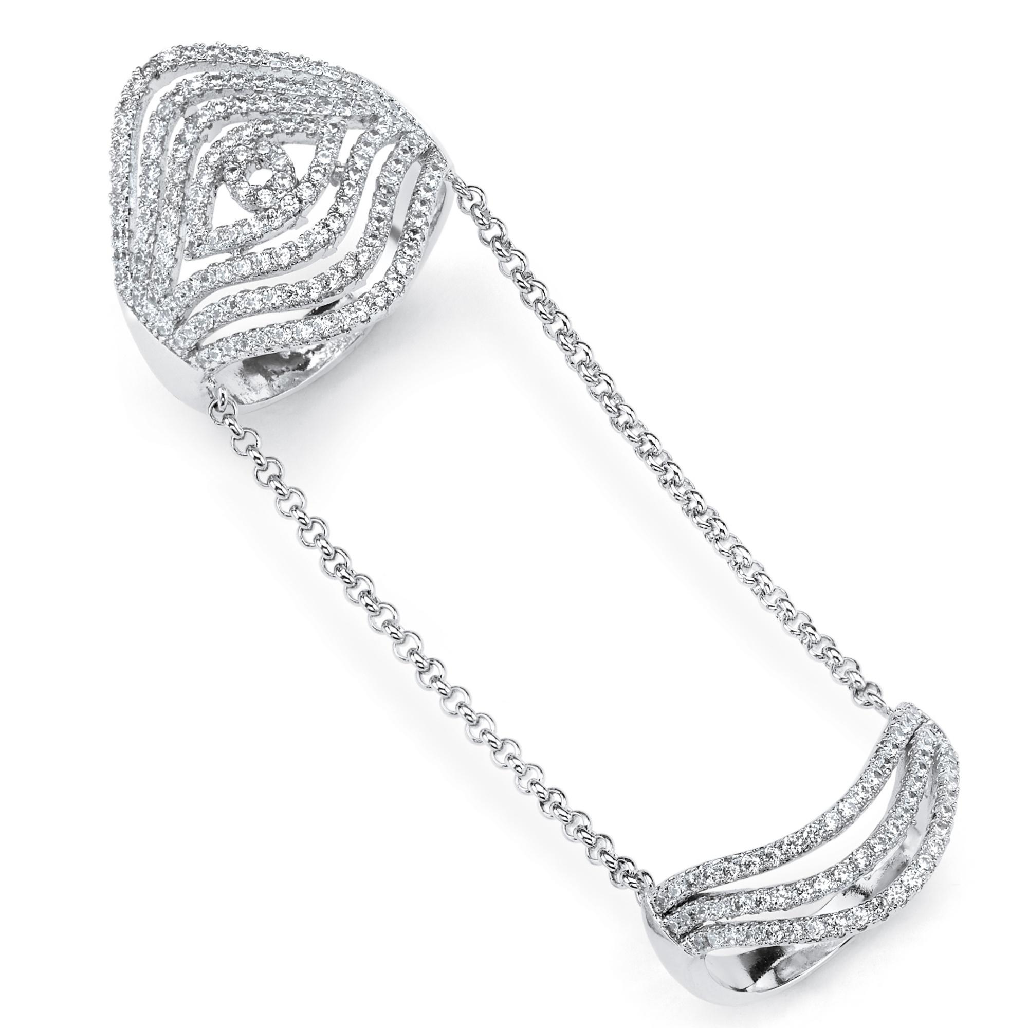 Diamond Multi Row Knuckle Ring