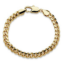 "Men's Curb-Link Chain Bracelet in Gold Tone 9"" (10.5mm)"