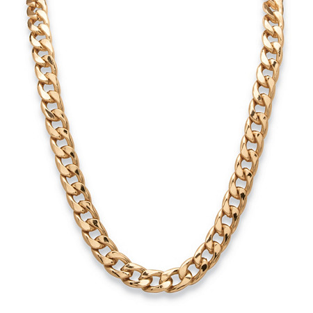 Men's Curb-Link Chain Necklace Gold Ion-Plated 24