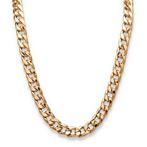 "Men's Curb-Link Chain Necklace Gold Ion-Plated 24"" (12mm)"
