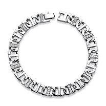 Men's 1.10 TCW Cubic Zirconia Mariner-Link Bracelet in in Silvertone 8.75
