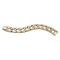 Men's Curb-Link Chain Bracelet 18k ONLY $25.95