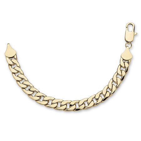 Men's Curb-Link Chain Bracelet in Gold Tone 9