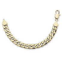 "Men's Curb-Link Chain Bracelet in Gold Tone 9"" (15mm)"