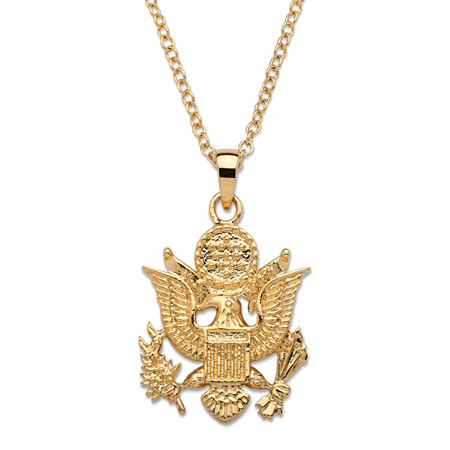 Army Pendant Necklace 14k Gold-Plated 20