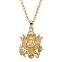 Army Pendant Necklace 14k Gold-Plated 20""