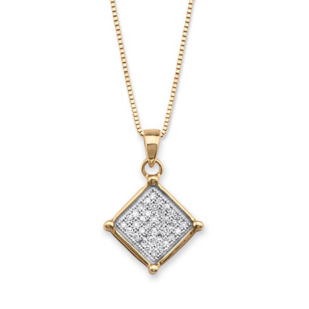 110 tcw micro pave diamond square cluster pendant necklace in 14k palmbeach jewelry 110 tcw micro pave diamond square cluster pendant necklace in 14k gold over aloadofball Images