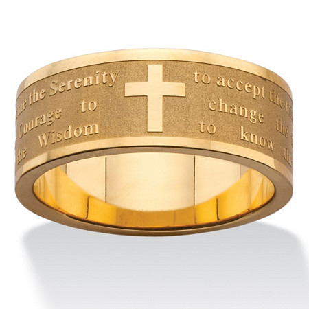 Serenity Prayer Inscription Ring in Gold Ion-Plated Stainless Steel at PalmBeach Jewelry