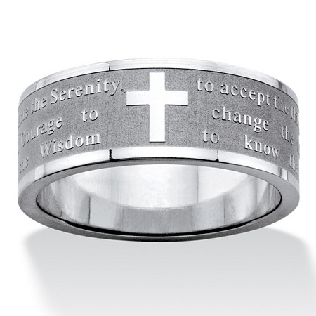 Serenity Prayer Inscription Ring in Stainless Steel at PalmBeach Jewelry