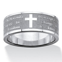 Serenity Prayer Inscription Ring in Stainless Steel