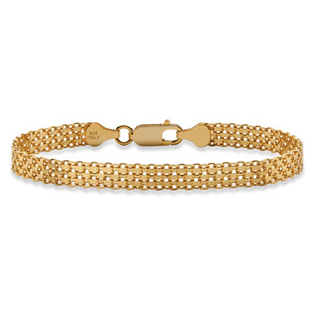 Bismark-Link Bracelet in 14k Gold over Sterling Silver 7