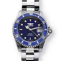 Men's Invicta Pro Diver Watch With Blue Dial in Stainless Steel 8""