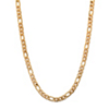 Related Item Men's Figaro-Link Gold Ion-Plated Chain Necklace 22