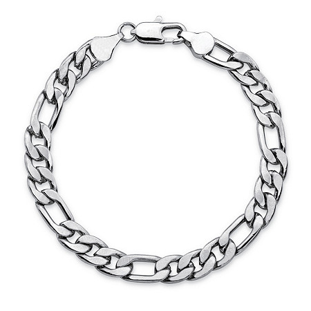 Men's Figaro-Link Chain Bracelet in Silvertone 8