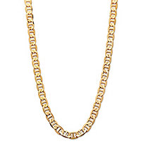 Men's Mariner-Link 7 mm Classic Chain Necklace Gold Ion-Plated 22