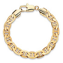 "Men's Mariner-Link Chain Bracelet Gold Ion-Plated 8"" (8.5"")"
