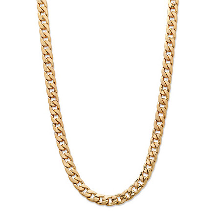 "Men's Curb-Link Chain Necklace Gold Ion-Plated 20"" (5.5mm) at PalmBeach Jewelry"