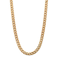Men's Curb-Link Chain Necklace Gold Ion-Plated ONLY $10.99