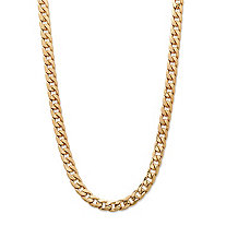 Men's Classic 5.5 mm Curb-Link Gold Ion-Plated Chain Necklace 22