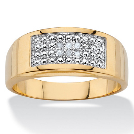 Diamond Accent Geometric Pave Ring 18k Gold-Plated at PalmBeach Jewelry