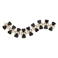 Black Onyx And White Crystal Antiqued Gold Tone Bow Tie Bracelet ONLY $6.99