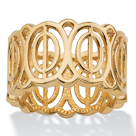 Concentric Oval-Link Geometric Eternity Ring in 18k Gold over Sterling Silver at PalmBeach Jewelry