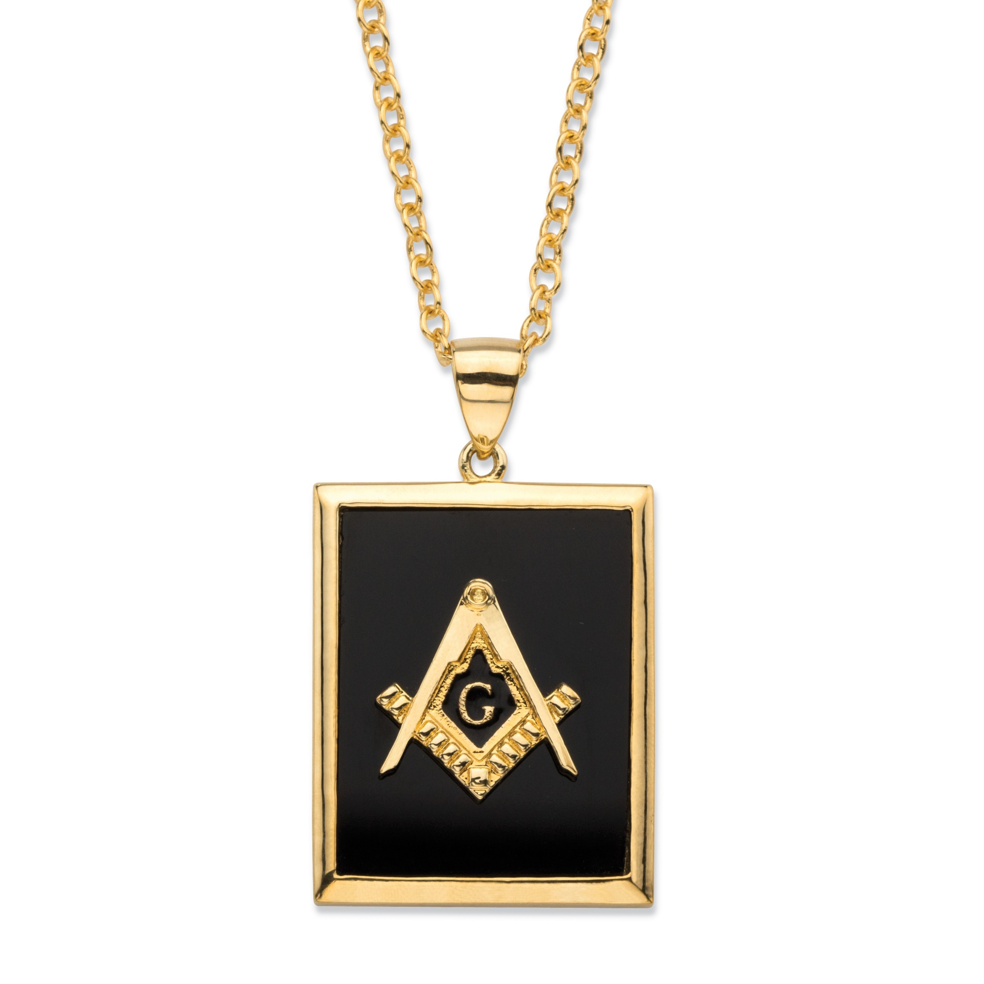 Men's Emerald-Cut Genuine Black Onyx 14k Gold-Plated ... | 2000 x 2000 jpeg 277kB