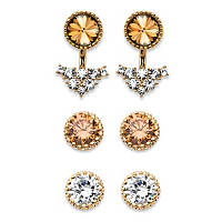 3-Pair Ear Jacket And Stud Earrings Set ONLY $19.93