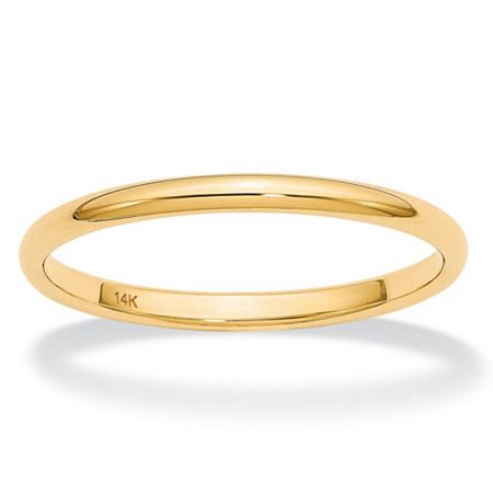 Polished Wedding Ring Band in 14k Yellow Gold (2mm) at PalmBeach Jewelry