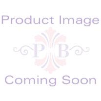 Pink Crystal Beaded DanglingHeart-Link Ankle Bracelet Adjustable in .925 Sterling Silver 9