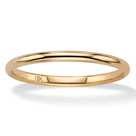 Polished Wedding Ring Band in 10k Yellow Gold (2mm) at PalmBeach Jewelry