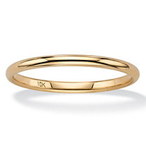 Polished Wedding Ring Band in 10k Yellow Gold (2mm)