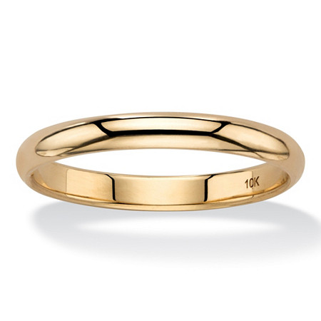 Polished Wedding Band in 10k Yellow Gold (3mm) at PalmBeach Jewelry