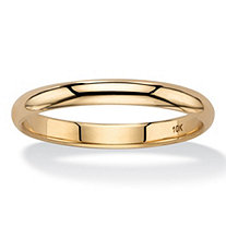SETA JEWELRY Polished Wedding Band in 10k Yellow Gold (3mm)