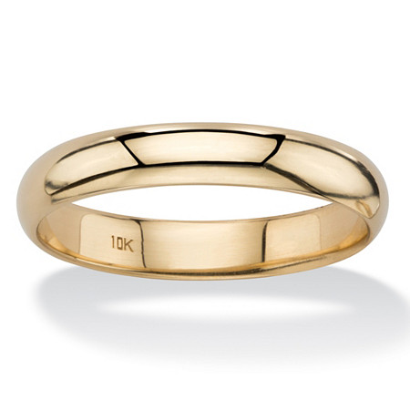 Polished Wedding Band in 10k Yellow Gold (4mm) at PalmBeach Jewelry