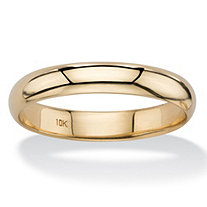 SETA JEWELRY Polished Wedding Band in 10k Yellow Gold (4mm)