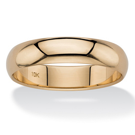 Polished Wedding Band in 10k Yellow Gold (5mm) at PalmBeach Jewelry