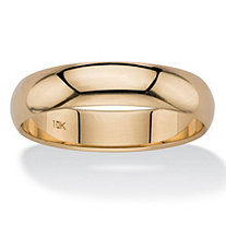 SETA JEWELRY Polished Wedding Band in 10k Yellow Gold (5mm)