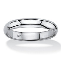 SETA JEWELRY Polished 10k White Gold Wedding Band (4mm)