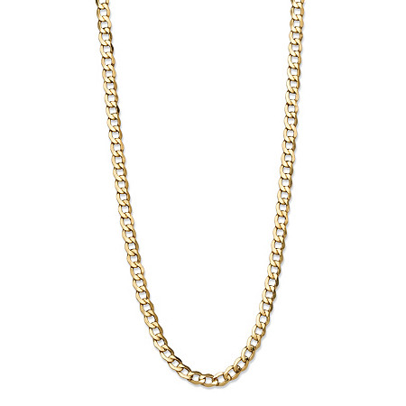 Curb-Link Chain Necklace in 10k Yellow Gold 24