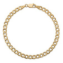 "Curb-Link Chain Bracelet in 10k Yellow Gold 7"" (4.25mm)"