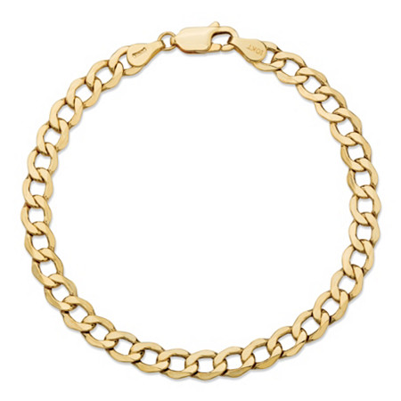"Curb-Link Chain Bracelet in 10k Yellow Gold 7"" (5.25mm) at PalmBeach Jewelry"