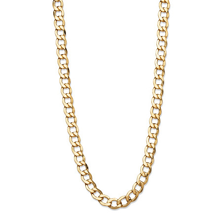 Curb-Link Chain Necklace in 10k Yellow Gold 18